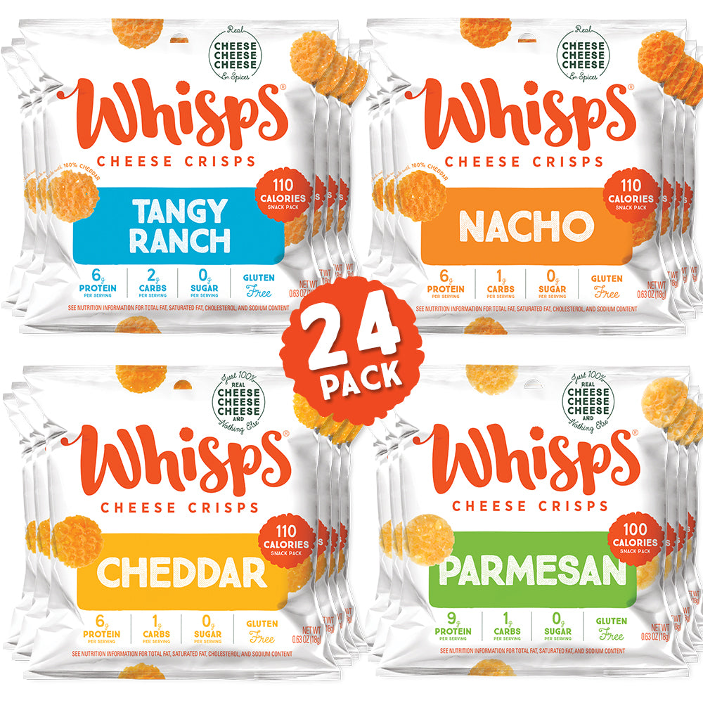 Buy Whisps Nacho, Tangy Ranch, Parmesan, Cheddar Cheese Crisps Variety Pack on Amazon