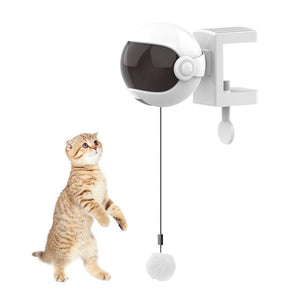 New Electric Cat Toy Funny Cat Teaser Ball Toy Automatic Lifting Spring Rod Yo-Yo Lifting Ball Interactive Puzzle Smart Pet Toys