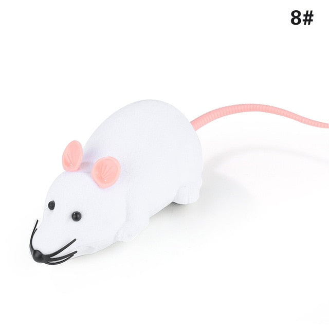 New 8 Colors Cat Toys Remote Control Wireless RC Simulation Mouse Toy Electronic Rat Mice Toy For Kitten Cat Novelty Toy