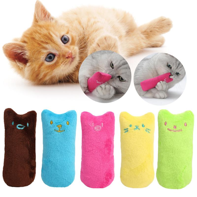 Teeth Grinding catinp toys Interactive plush Cat Toys Kitten Chewing Vocal Claws Thumb Bite Cat mint For Cats