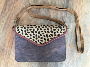 Fairly Made Leopard Clutch Shoulder Bag