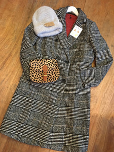 Fairly Made Wool Check Coat