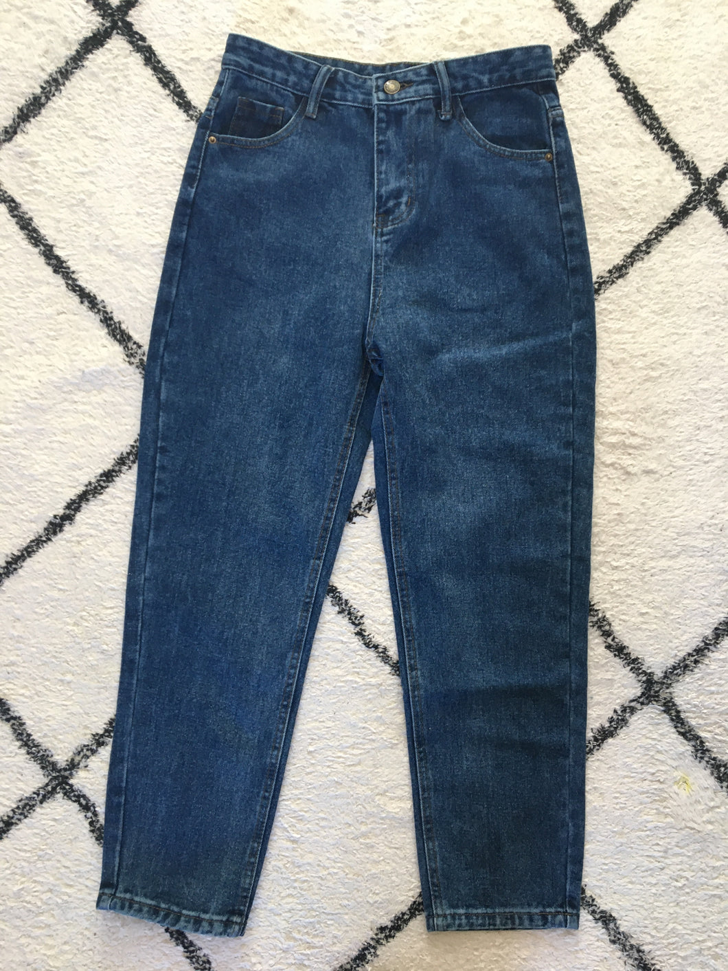 Fairly Made Denim Cotton High Waist Mom Jean