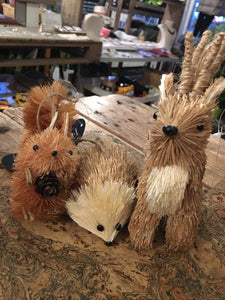 Eco Bristle Brush Squirrel Decoration