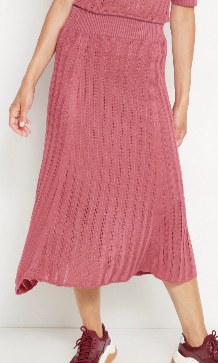Sustainable EcoVero Knitted Midi Skirt