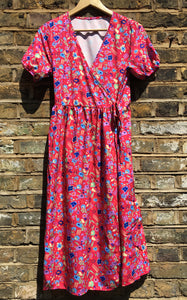 Fairly Made Floral Wrap Dress