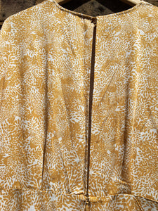 Sustainable Beige Animal Print Dress