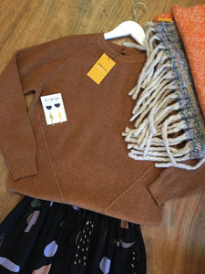 Fairly Made Caramel Crew Neck Sweater