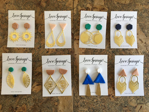Fairly Made Sustainable Brass Earrings