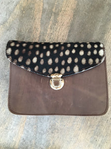 Fairly Made Spot Leather Clutch Shoulder Bag