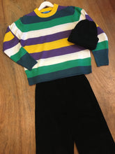 Load image into Gallery viewer, Fairly Made Purple Stripe Sweater