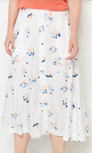 Load image into Gallery viewer, Sustainable White Floral Print Skirt