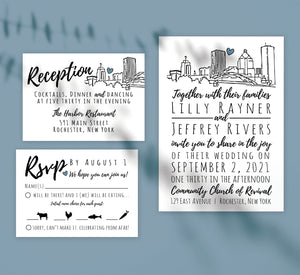 Lovely Skyline Wedding Set