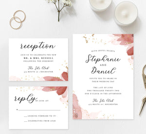 Enchanting Watercolor Wedding Set