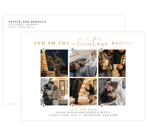 Adventure Begins Save the Date Card Mockup