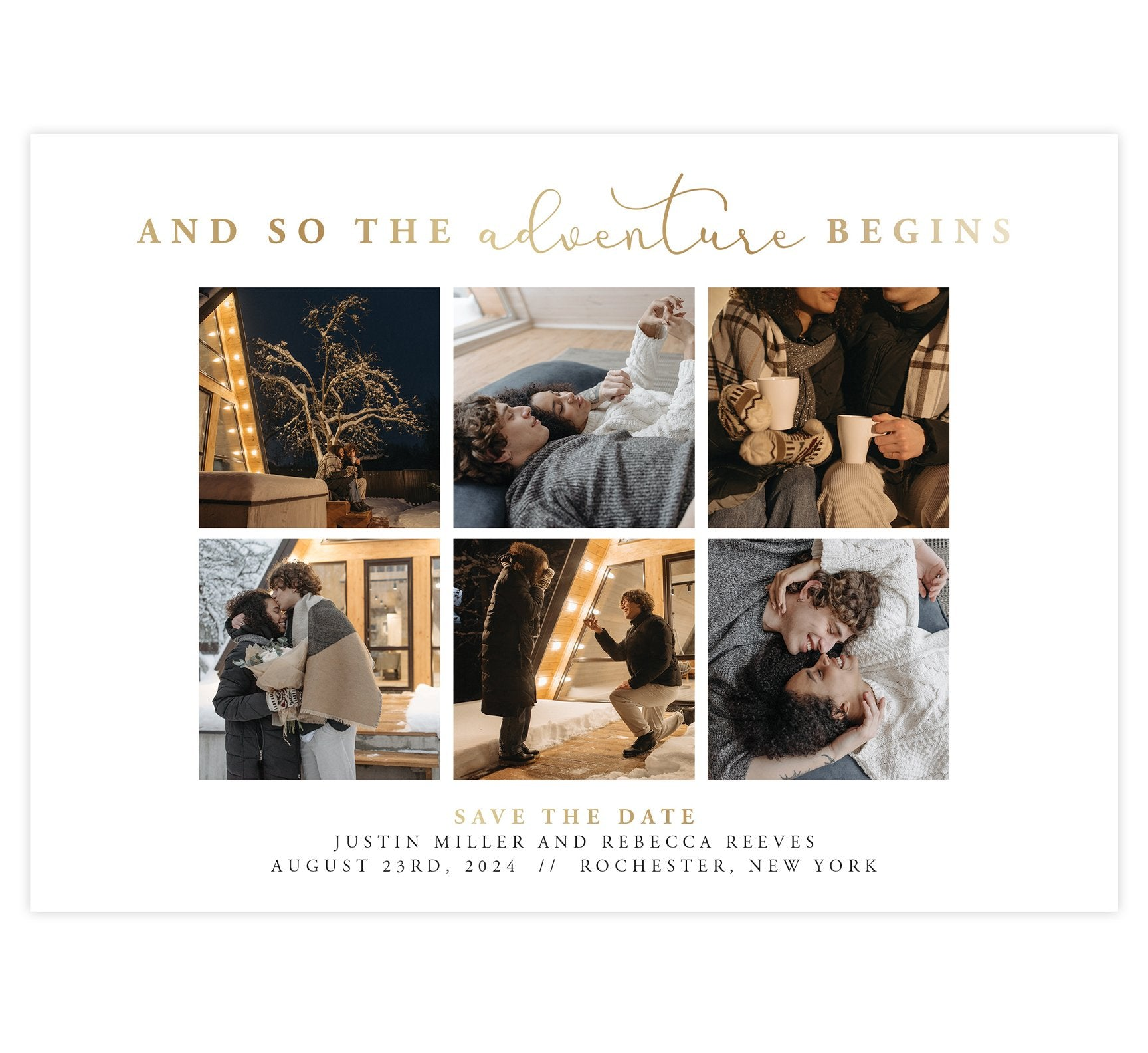 Adventure Begins Save the Date Card