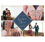 Load image into Gallery viewer, Charming Love Save the Date Card with 4 image spots