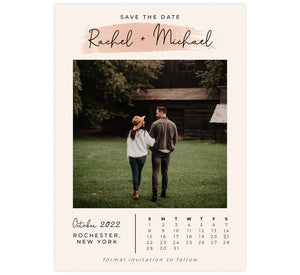 Dates Set Save the Date Card with 1 image spot