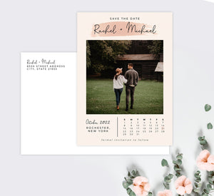 Dates Set Save the Date Card