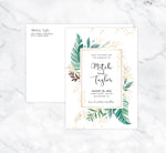Load image into Gallery viewer, Greenery Frame Save the Date Card Mockup