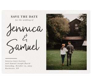 Modern Script Save The Date