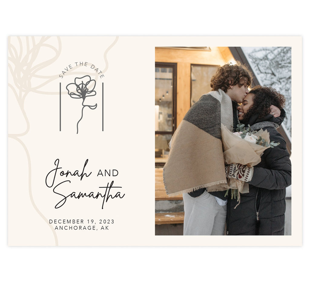 Modern Handwriting Save the Date Card
