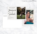 Load image into Gallery viewer, Modern Script Save the Date Card Mockup