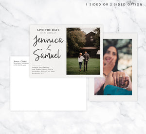 Modern Script Save the Date Card Mockup