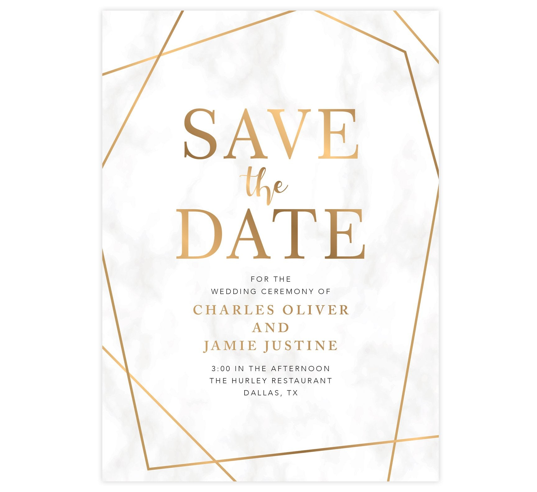 Precious Marble Save the Date Card