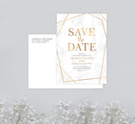 Load image into Gallery viewer, Precious Marble Save the Date Card Mockup