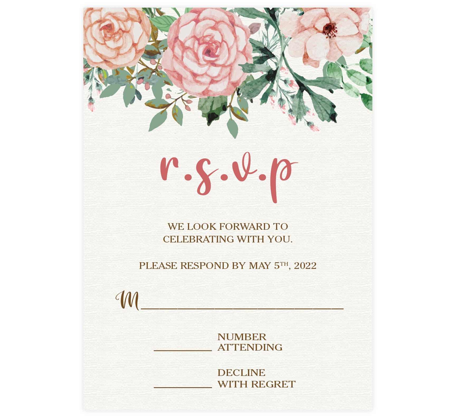 Rose Wreath RSVP