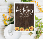 Load image into Gallery viewer, Bright Sunflower Wedding Set Mockup