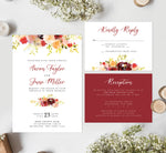 Load image into Gallery viewer, Alluring Floral Wedding Invitation and Set Mockup