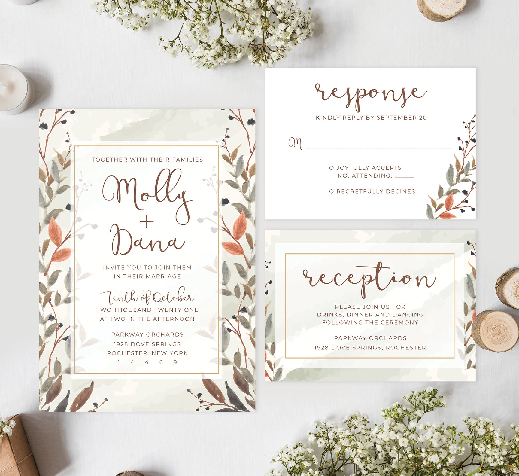 Fantasy Love wedding set mockup