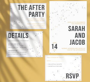 Modern Bold wedding set mockup