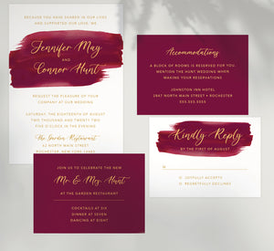 Dramatic Love wedding set mockup