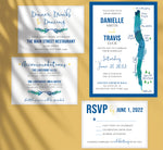 Load image into Gallery viewer, Seneca Lake wedding invitation and set