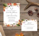 Load image into Gallery viewer, Rustic Fall wedding invitation and set