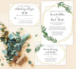 Load image into Gallery viewer, Watercolor Greenery wedding invitation and set