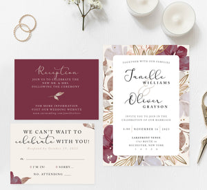 Floral Love Wedding Set Mockup