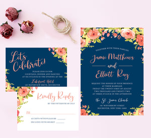 Blushing Rose Wedding Set Mockup