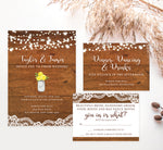 Load image into Gallery viewer, Rustic Glow wedding invitation and set
