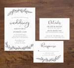 Load image into Gallery viewer, Hand Drawn Ceremony wedding set mockup