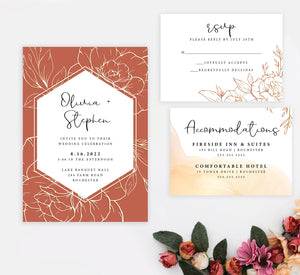 Gleaming Botanical Invitation
