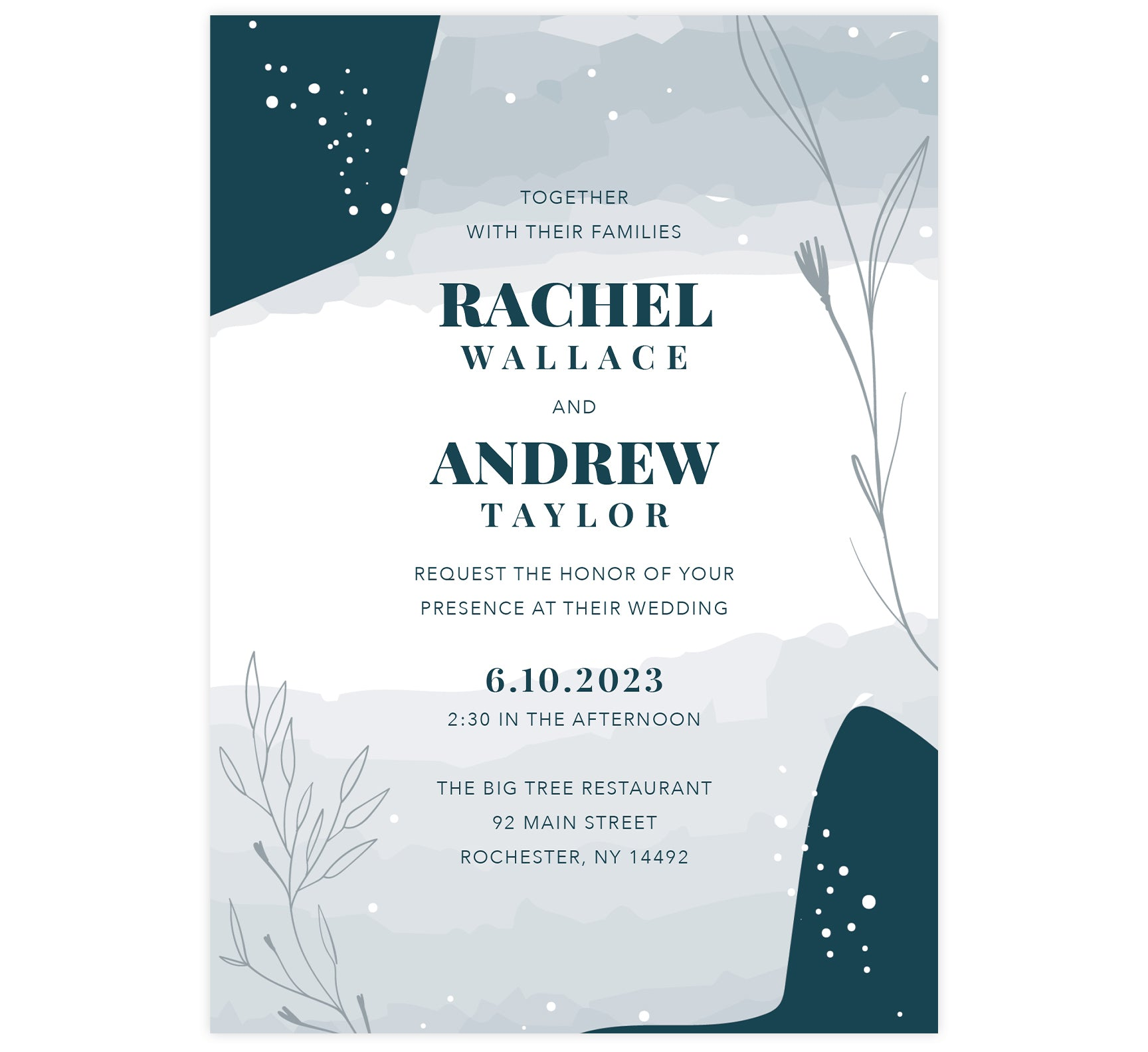 Deckled Blues Invitation