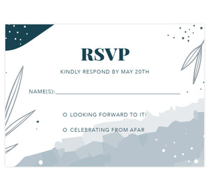 Deckled Blues RSVP