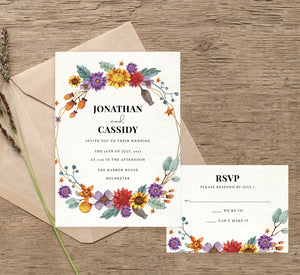 Colorful Floral Frame Reception