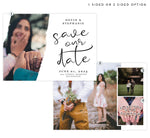 Load image into Gallery viewer, Wedding White Save the Date Card with 3 image spots