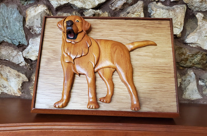 A Hand Carved Pet Urn to Memorialize Your Late Yellow Labrador Retriever