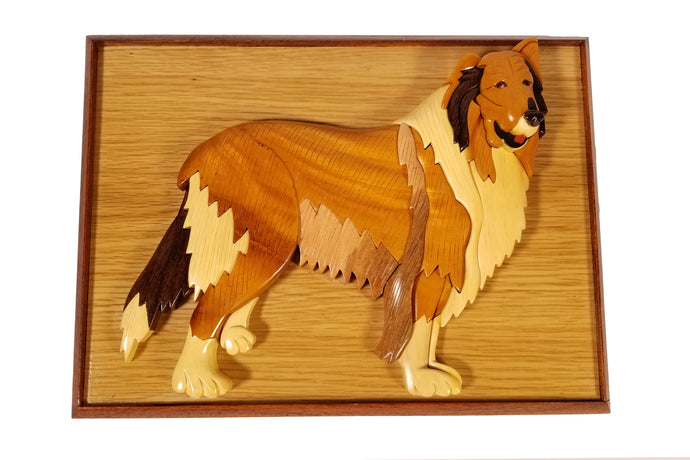 Hand Carved Collie Pet Urns Celebrate the Life of Your Dog